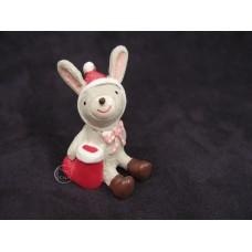 拿聖誕襪的小兔擺飾