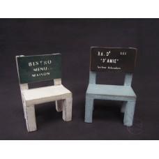 擺飾-小木椅(白)