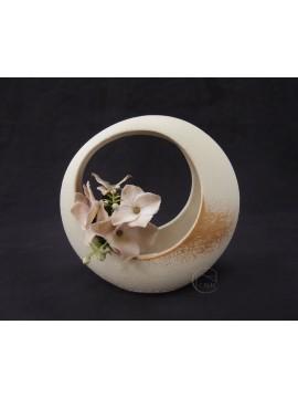 陶花器-Clay 花器155-058-391AKEBONO IVORY 小