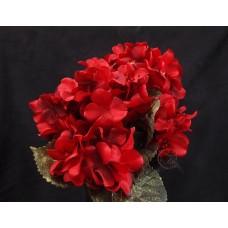 人造花-5頭4角輻射繡球(紅)