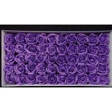 人造花-香皂花-三層玫瑰香皂花頭(中紫)-零售