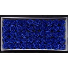 人造花-香皂花-三層玫瑰香皂花頭(寶藍)-零售