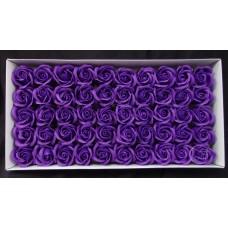 人造花-香皂花-三層玫瑰香皂花頭(深紫)-零售