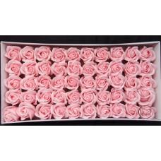 人造花-香皂花-三層玫瑰香皂花頭(淺粉)-零售