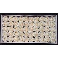 人造花-香皂花-三層玫瑰香皂花頭(純白)-零售
