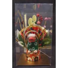 新年-日本門松擺飾-獅子舞