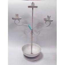 燭台-三頭花架燭台