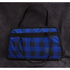 工具袋-藍黑方格紋
