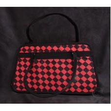 工具袋-紅黑菱格紋