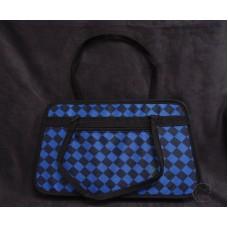 工具袋-藍黑菱格紋