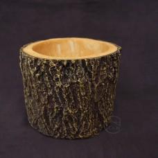 樹脂-樹皮花器