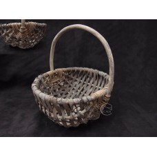 編織-Daciao 花器 63-984 Willow Basket 橢圓提把竹編籃-小(深棕)
