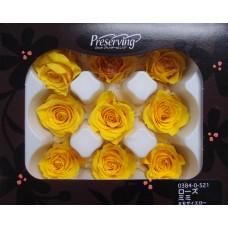 盒裝不凋花-玫瑰(黃)