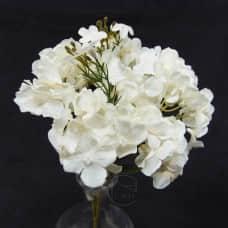 人造花-10頭小繡球(白)