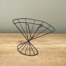 縷空-NATURE DESIGNS 花器40356Iron Wire Stand扇形小黑