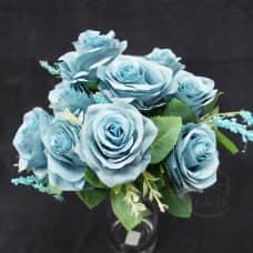 人造花-9頭澤蘭玫(藍)