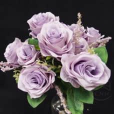 人造花-9頭澤蘭玫-紫
