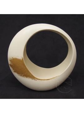 陶瓷-CLAY 花器155-059-391 AKEBONO IVORY 大