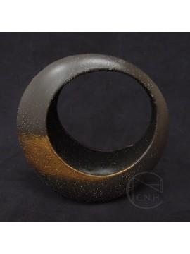 陶瓷-CLAY 花器155-059-891 AKEBONO BLACK 大