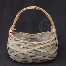 籐籃-WONDER ZONE 21 花器733-006GSliced Wood Flower Basket