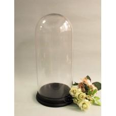 玻璃+木製黑底座