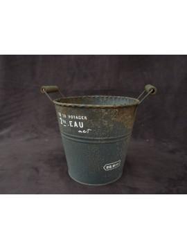 鐵花器-雙耳水桶