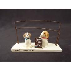 擺飾-兩隻小狗