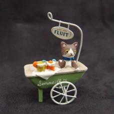 擺飾-貓咪推車