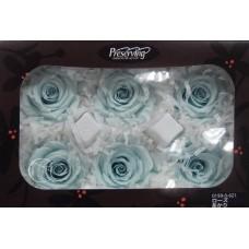 盒裝不凋花-大地農園 玫瑰(粉藍)