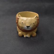 擺飾-小花器-獅子(米)