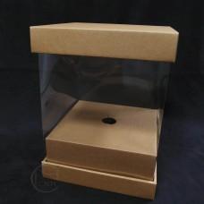 包裝-捧花盒-淺咖(小)