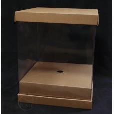 包裝-捧花盒-淺咖(大)