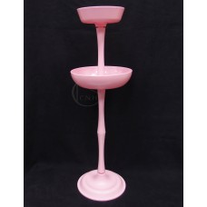 塑膠花器-三節組合花器(粉)