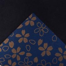 包裝-櫻花布紋(藍底金花)-零售