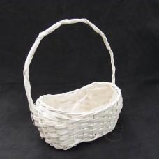 編織-Daciao 花器63-873 Rattan Flower Basket 橢圓形提籃(白)