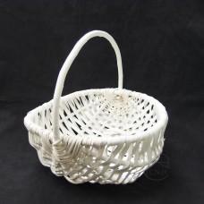 編織-Daciao 花器63-885Willow Basket橢圓提把竹編籃-大(白)