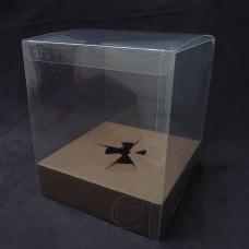 包裝-PVC盒 花用附底座-L