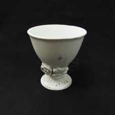 陶瓷-CLAY 花器120-663-122玫瑰刻紋-中(白)