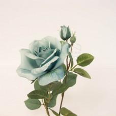 人造花-韓式菲蝶玫瑰(藍綠)