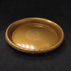 塑膠-圓花盤 1號(咖金)