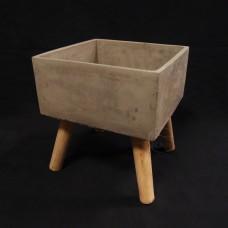 水泥-106-1水泥方形花器-大
