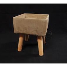 水泥-106-2水泥方形花器-小