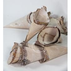 裝飾品 YW138樹皮甜筒(白)