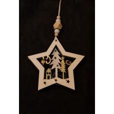 星麋鹿聖誕樹吊飾