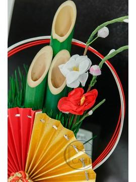 裝飾 1569 竹子迎春 紅黃