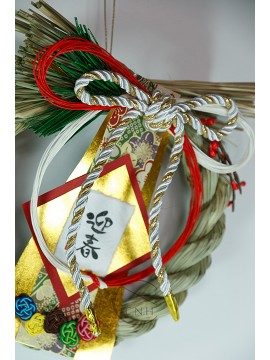 裝飾 LD-8609 注連繩迎春 黃