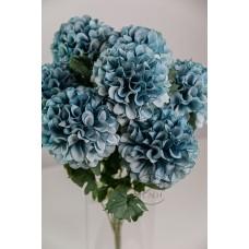 人造花 7頭韓式繽紛球菊 淺藍