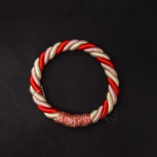 ASCA 裝飾A-72136-01R繩花圈白紅