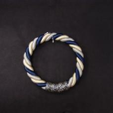 ASCA 裝飾A-72136-09W繩花圈白藍