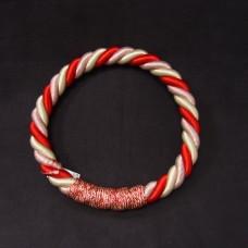 ASCA 裝飾A-72137-01R繩花圈白紅